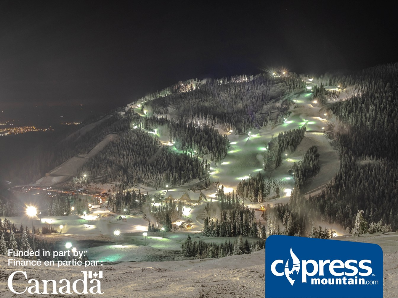Cypress Mountain Enhances Night Experience With Led Lighting